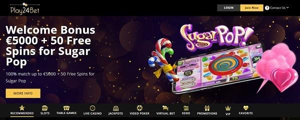 Play24Bet.com free spins bonus offer