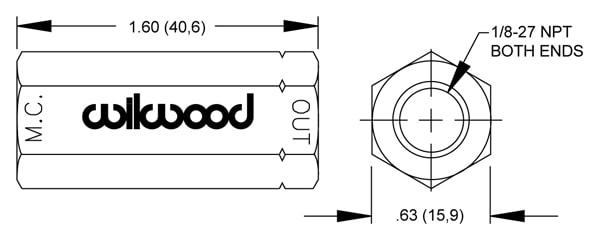 Wilwood valve 2601876 drawing