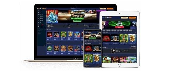 BondiBet Casino games and software