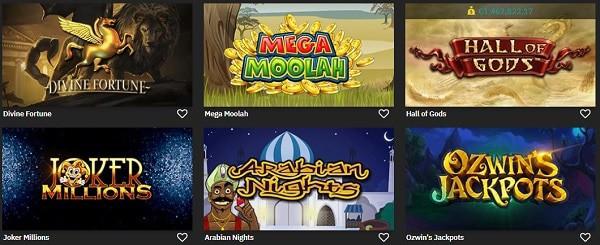 FastBet Casino jackpot games