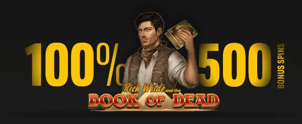 500 Bonus Spins on Book of Dead