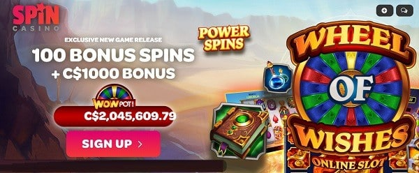 SpinCasino.com free spins bonus