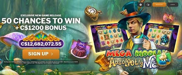 New Mega Moolah jackpot free spins