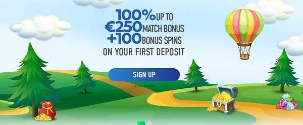Slotnite free spins bonus