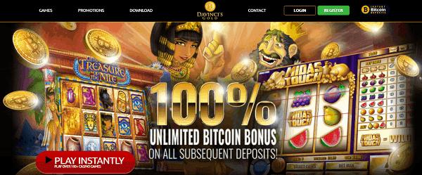 100% unlimited welcome bonus