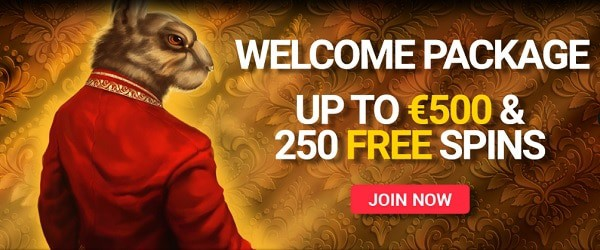 100% up to 500 EUR and 250 Free Spins