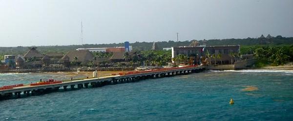 Costa Maya's cruise ship pier and port