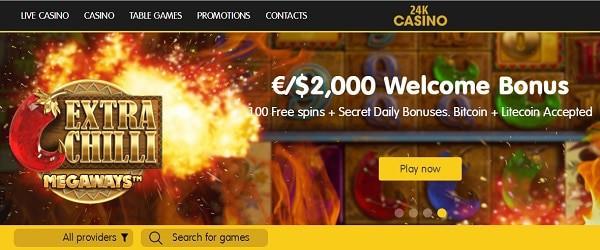 24kCasino.com gratis spins