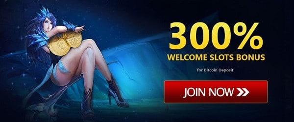 300% welcome bonus