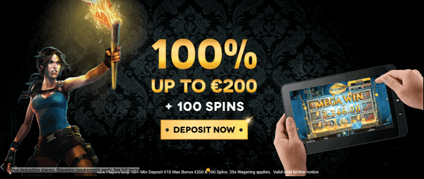 Get 100% welcome bonus and 100 free spins on your deposit!