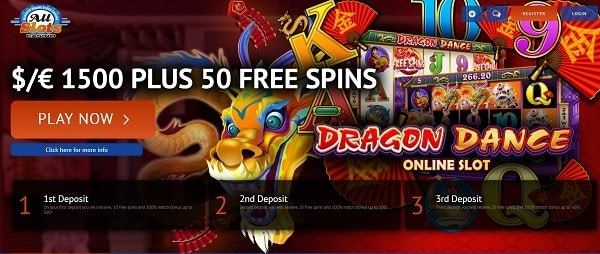 50 free spins and $1500 welcome bonus