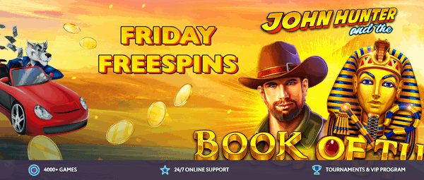 Get Free Spins every Friday!