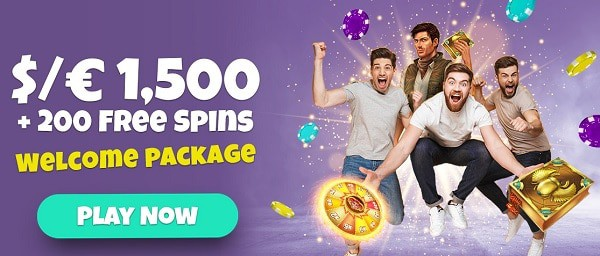 200 free spins ad $1500 welcome bonus at SpinShake.com