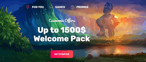$1500 welcome bonus pack