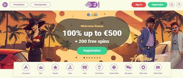 100% welcome bonus and 200 gratis spins