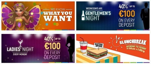 SlotsMillion Casino - Ladies Night, Gents Night, Slunchbreak, Happy Hours