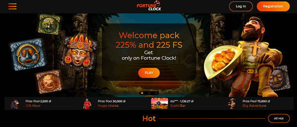 225% welcome bonus and 225 free spins
