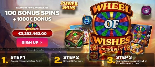 Play 100 Free Spins on Jackpots!