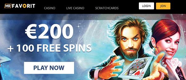 MrFavorit.com 100 FS and 200 EUR gratis