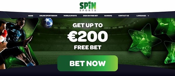 Spin Sports 200 EUR free bet