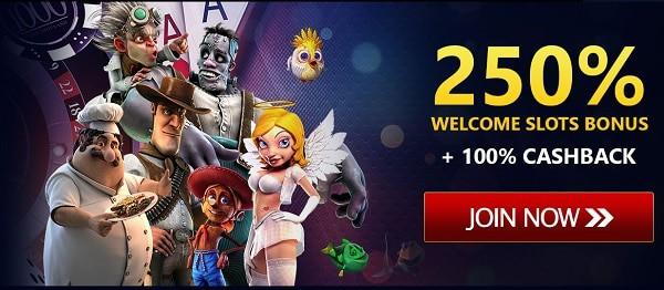 250% match bonus code 24 VIP