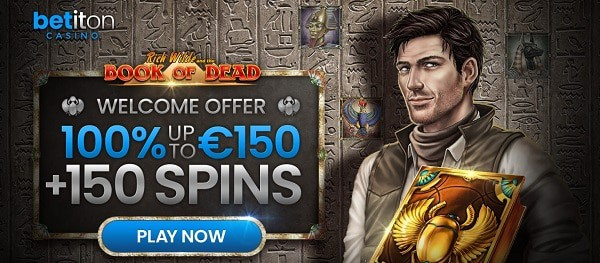 Bet It On 150 Spins and 100% welcome bonus