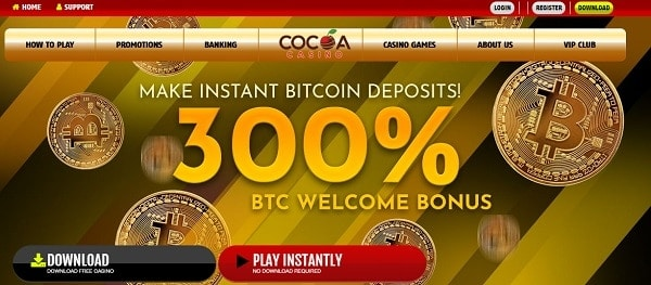 300% Bitcoin Bonus on 1st deposit
