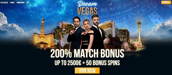 Dream Vegas Casino 200% bonus