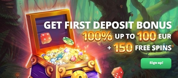 100% bonus and Free Spins for new players!