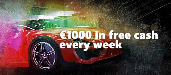1000 EUR free cash every week