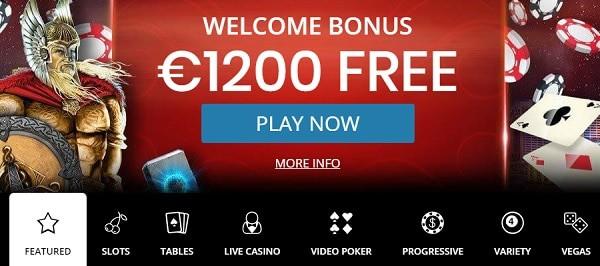 1200 EUR welcome bonus on 3 deposits!