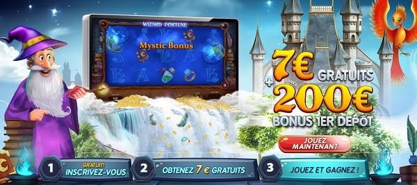 7 EUR + 200 EUR bonus