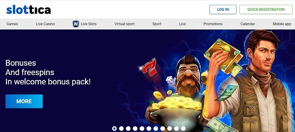 Bonuses and free spins in welcome offer