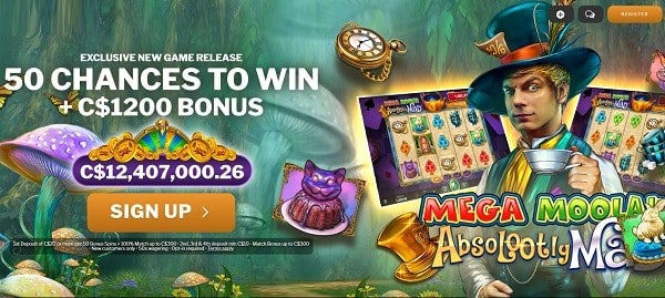 Absolootely Mad free spins bonus
