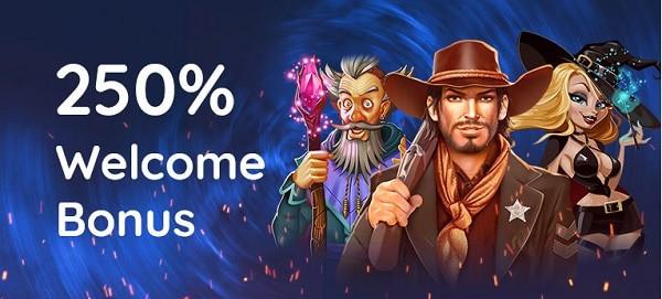250% slot bonus