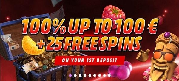 100% bonus now