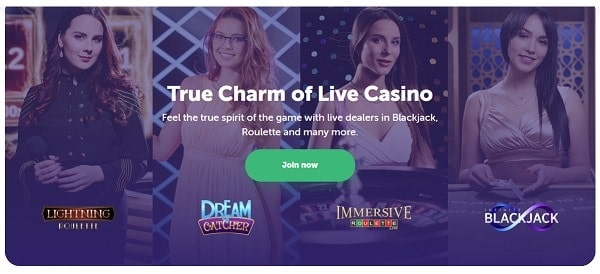 Live Dealer games bonus