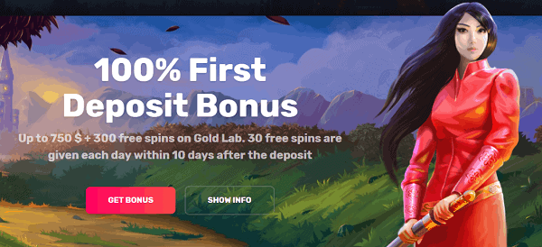 Enjoy a 100% first deposit bonus!