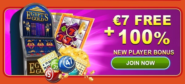 $7 no deposit bonus and 100% welcome bonus on slots and scratch card games
