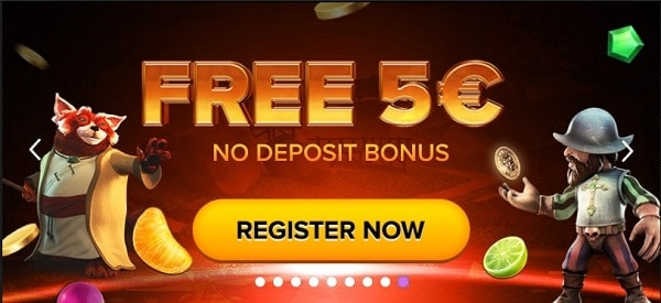 Grab 5 EUR no deposit bonus on all games!