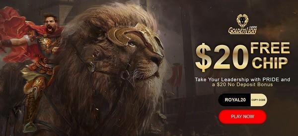 Golden lion casino no deposit $50 free play