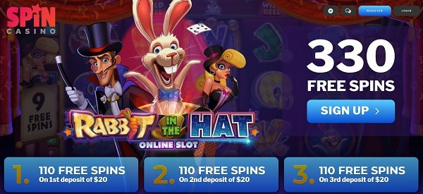 330 Free Spins on Slots