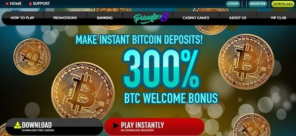 300% Welcome Bonus in Bitcoin