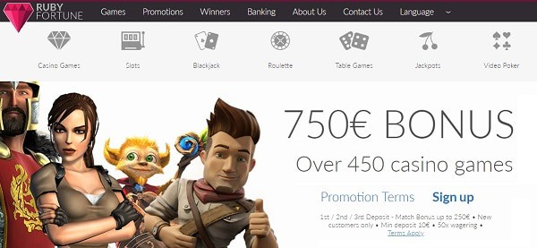 $750 free bonus and 100 extra spins in welcome offer