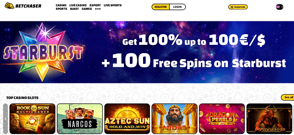 Play 100 free spins and get 10 EUR free bonus