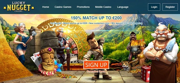 Lucky Nugget 150 free spins