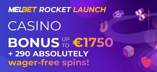 290 free spins and 1750 euros welcome bonus pack