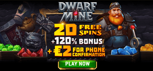 20 Gratis Spins and 2 EUR no deposit bonus