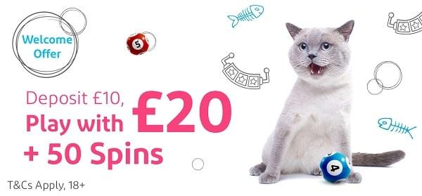 50 GBP free bonus and 50 extra spins!