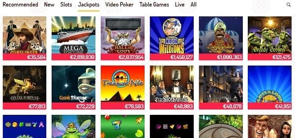 Karjala Kasino Casino games